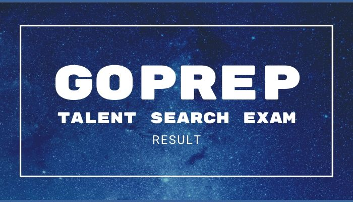 GTSE Goprep Talent Search Result 2020 Round 1 Scholarship Exam Winner List